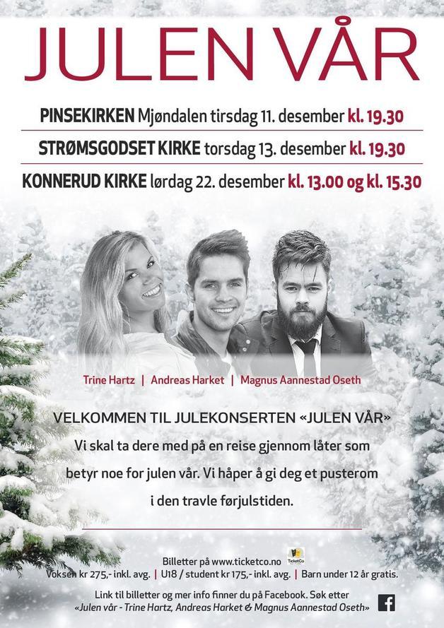 Julen Var Stromsgodset Kirke Trine Hartz Andreas Harket Magnus Aannestad Oseth Ticketco